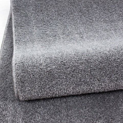 Light Grey Rug Modern Plain Bedroom Floor Carpet Small Extra Large Woven Hallway Runner Mats Living Room