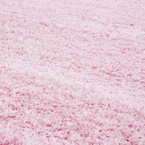 Pink Fluffy Rug Modern Deep Pile Shaggy Carpet Plain Living Room Floor Area Mat