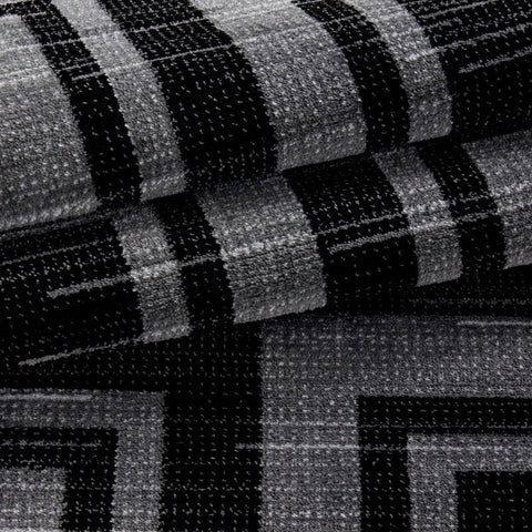 Check Rug Modern Black and Grey Geometric Pattern Carpet Small Large Bedroom Mat