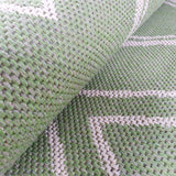 Green Cotton Rug Large Small Dimond Patterned Rug Runner Pastel Light Green Carpet Living Room Bedroom Mat Flatweave Washable Rug
