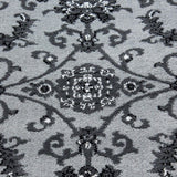 Grey Oriental Rug Modern Patterned Mat Living Room Lounge Carpets Small Large XL