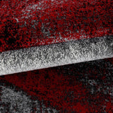 Rug for Living Room Red Black Grey Modern Abstract Mats New Floor Carpet Hallway