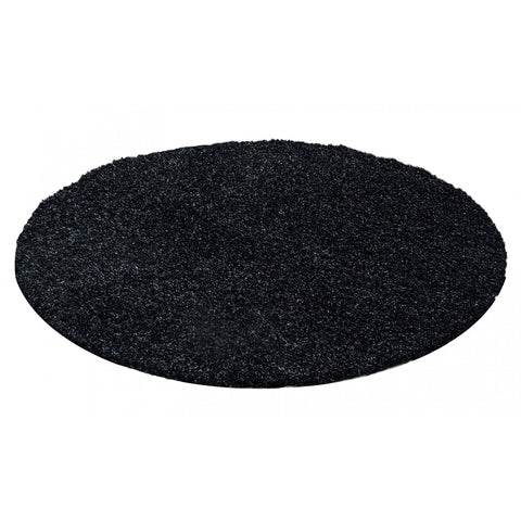 Shaggy Rug Dark Grey Anthracite Fluffy Carpet Extra Large Small Circle Round Mat for Living Room Bedroom