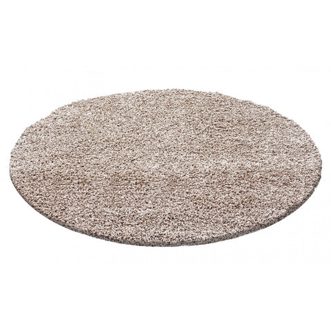 Beige Shaggy Rug Fluffy Carpet Extra Large Small Circle Round Mat Deep Pile Rugs for Living Room Bedroom