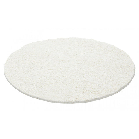 White Cream Shaggy Rug 50mm long Pile Fluffy Carpet Extra Large Small Circle Round Mat for Living Room Bedroom