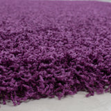 Purple Fluffy Rug Round Circle Carpet Extra Large Small Living Room Bedroom Carpet Mat