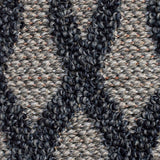 Modern Black Brown Rug Jute Look Flat Weave Hard Wearing Woven Carpet Grey Geometric Trellis Pattern Indoor Kitchen Small Extra Large 120x170 160x230 200x290 Polypropylene Mat