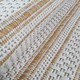 Cotton Rug Yellow Mustard Cream Striped Small Large Runner Washable Living Room Bedroom Flat Woven Carpet Area Mat