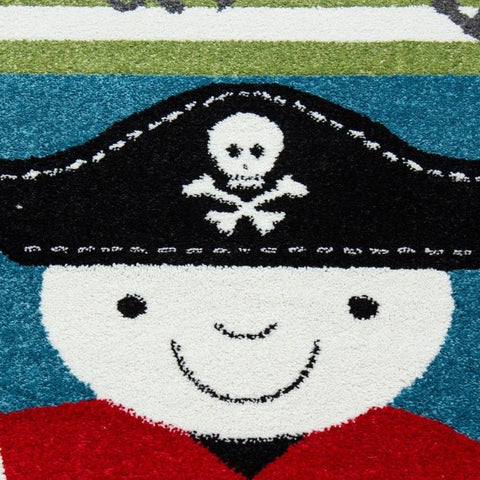 Boys Bedroom Rug Blue Red Green Marine Theme Mat Baby Kids Play Childrens Carpet