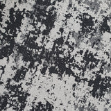 Grey Black Distressed Rug Washable Cotton Carpet Large Small Runner Living Room Bedroom Mat