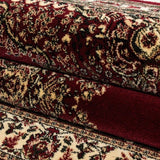 Oriental Rug Red and Beige Pattern Border Carpet Bedroom Floor Mat Small X Large
