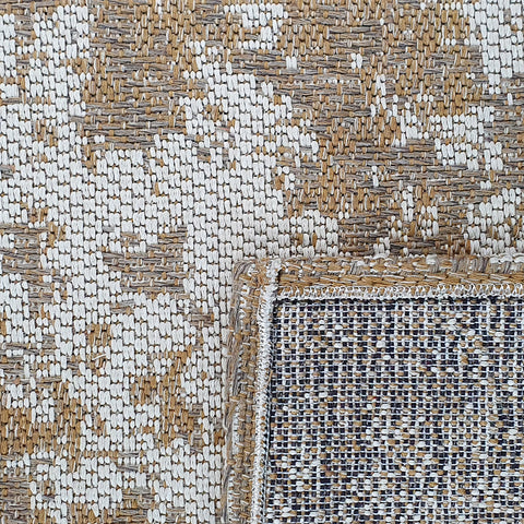 Modern Abstract Rug Cotton Beige Mustard Cream Distressed Pattern Large Small Runner Flat Weave Mat