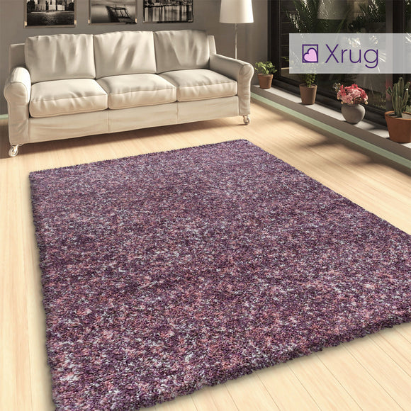 Pink Brown Purple Shaggy Rug Mottled Fluffy Extra Large Small Living Room Bedroom Carpet Thick Pile Runner Deep Pile Long Pile Area Mat