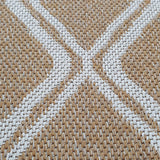 Cotton Washable Rug Beige Mustard Diamond Flat Weave Carpet Large Small Runner