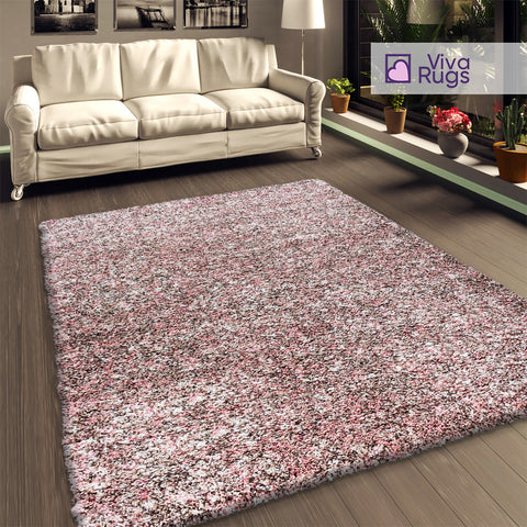 Pink Brown Beige Shaggy Rug Fluffy Thick Pile Carpet Extra Large Small Modern Living Room Bedroom Mat Long Pile Thick Pile Are Rugs