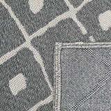 Grey Modern Rugs 100% Cotton Washable Abstract Flat Weave Rug Mat Small Large XL