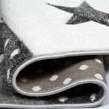 Children Rug Boys Bedroom Carpet Blue Grey Nursery Rugs Stars Soft Play Room Mat