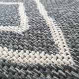 Grey Rug Diamond Pattern 100% Cotton Small Extra Large Runner Washable Flatweave Carpet Living Room Bedroom Woven Mat