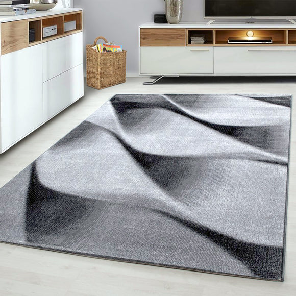 Grey Abstract Rug for Living Room Pattern Carpet Modern Bedroom Mats Small Large