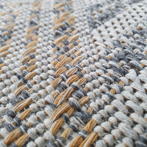 Grey Rug Modern Shabby Chick Pattern 100% Cotton Small Large XL Washable New Mat Flat Weave Rugs Stirped Diamond Design