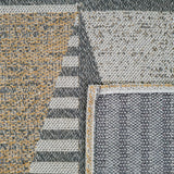 Grey Mustard Rug Geometric 100% Cotton Small Extra Large XL Washable Modern Flat Weave Carpet Woven Living Room Mat