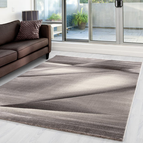 Abstract Rug Modern Brown Beige Pattern Mat Small Large Living Room Hall Carpets