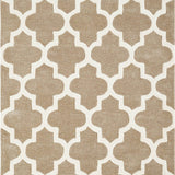 Beige Rug Moroccan Trellis Hand Tufted Carpet for Living Room Bedroom