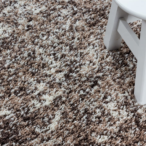 Beige Cream White Rug Modern Shaggy Carpet Soft Deep Long High Pile Fluffy Runner Living Room Bedroom Area Lounge Small X Large Runner Hallway Floor Mat