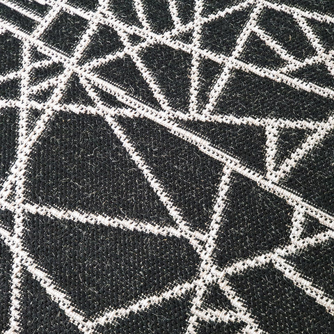 Grey Black Rug Jute Look Flat Geometric Rugs Abstract Patterned Carpet Weave Hard Wearing Woven Carpet Modern Geo Pattern Small Large Hall Runner 60x230 80x150 80x250 120x170 160x230