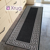 Black Runner Hallway Kitchen Hall Runners Flat Weave Long Rug Capret