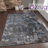 Grey Blue Rug Oil Painting Abstract Mat Small Large Bedroom Carpet Contemporary Modern Patterned Carpet Living Room Bedroom Area Lounge Mats Woven Polypropylene Heatset Short Low Pile 120x170 160x230 80x150