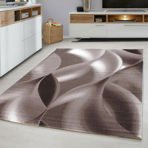 Brown and Beige Rug Modern Abstract Pattern Mat Small X Large Room Runner Carpet