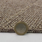 Brown Rug Flat Weave Checkered Design Carpet Small Large Living Room Hallway Mat