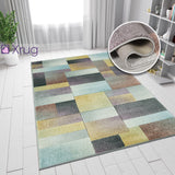 Geometric Diamond Rug Multi Colour Pastel Hand Carved Contour Cut Pattern Small Large Woven Hallway Runner Carpet Mat Living Room Bedroom Area Floor New Mat 60x230 120X170 160X230