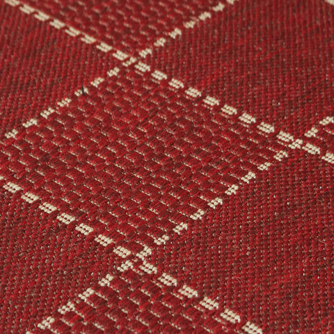 Kitchen Red Rug Flat Weave Non Slip Woven Carpet Durable Modern Checked Geometric Pattern Plain Pattern Hall Hallway Runner Long Polypropylene Mat 60x180 60x230