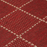 Kitchen Red Rug Flat Weave Non Slip Heavy Duty Hard Wearing Woven Carpet Modern Checked Pattern Plain Pattern Small Large Hall Runner Polypropylene Mat 40x60 50x80 60x110 60x180 60x230 80x150 120x160 160x225