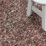 Pink Rose Beige Cream White Rug Modern Shaggy Carpet Soft Deep Long High Pile Fluffy Runner Living Room Bedroom Area Lounge Small X Large Runner Hallway Floor Mat