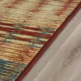 Designer Rug Multicoloured Pattern Geometric Striped Design Large Small Living Room Bedroom