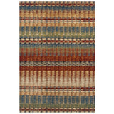 Striped Multicoloured Rug Colorful Carpet Floor Mat Large Small Runner
