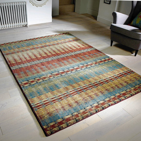 Colorful Rug Modern Striped Design Multicoloured Carpet Large Small Runner Floor Mat for Living Room Bedroom