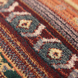 Ethnic Rug Colourful Multicoloured Striped Carpet Extra Large Living Room Bedroom Area Mat
