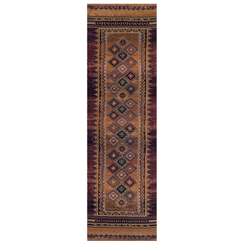 Striped Rug Runner Multicoloured Colourful Long Carpet for Hallway Living Room Bedroom