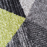Modern Rugs Grey Black Green Multi Geometric Abstract Pattern Carpet Small Large Area Patterned Mat Woven Friese Soft Polypropylene Living Dining Room Bedroom Lounge 70x140 120x170 160x220 New