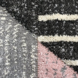 Pink Grey Rug Modern Geometric Contour Cut Hand-Carved Pattern Small Extra Large XL Woven Carpet Living Room Bedroom Area Mat 120x170 160x230 200x290 Polypropylene