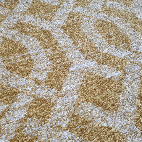 Modern Rugs Grey Yellow Gold Trellis Abstract Patterned Carpet Small Large Area Mat Woven Friese Soft Polypropylene Living Dining Room Bedroom Lounge 70x140 120x170 160x220 New