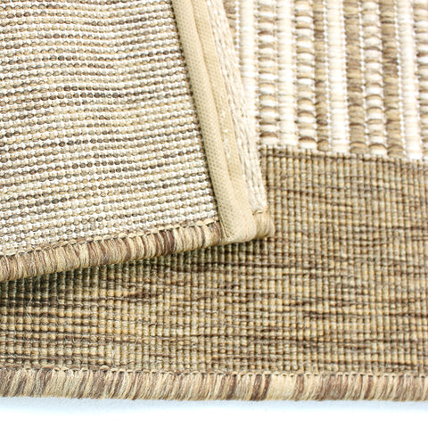 Hard Wearing Rug Sisal Look Natural Beige Modern Carpet Flat Woven Room Hall Mat