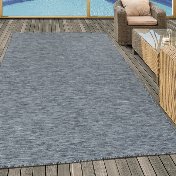 Indoor Outdoor Rug Modern Anthracite Floor Carpet Small Large Hard Wearing Mats
