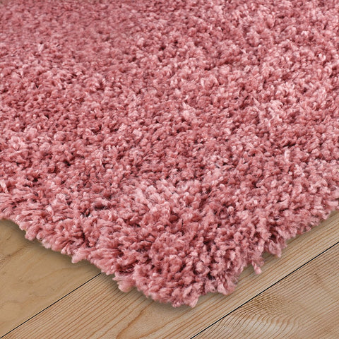 Thick Fluffy Rug Blush Pink for Bedroom Living Room Long Pile Shaggy Rug Runner Carpet Area Mat