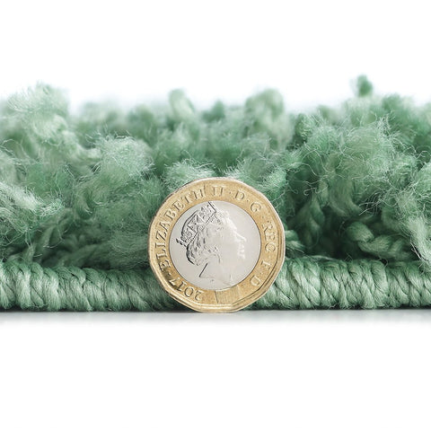 Thick Fluffy Rug Sage Green for Bedroom Living Room Long Pile Shaggy Rug Runner Carpet Area Mat