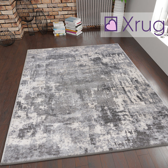 Grey White Cream Rug Oil Painting Abstract Mat Small Large Bedroom Carpet Contemporary Modern Patterned Carpet Living Room Bedroom Area Lounge Mats Woven Polypropylene Heatset Short Low Pile 120x170 160x230 80x150